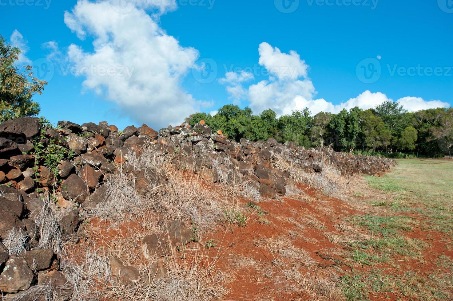 pu'u o mahuka heiau, heilige plaats op oahu, hawaii foto