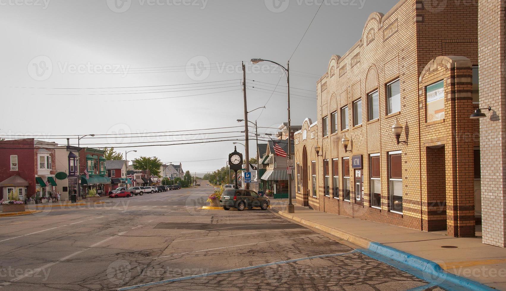 kleine stad foto