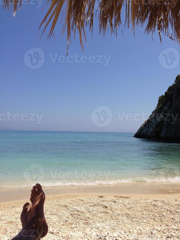 genieten van het strand foto