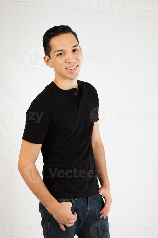 Spaanse man die lacht foto