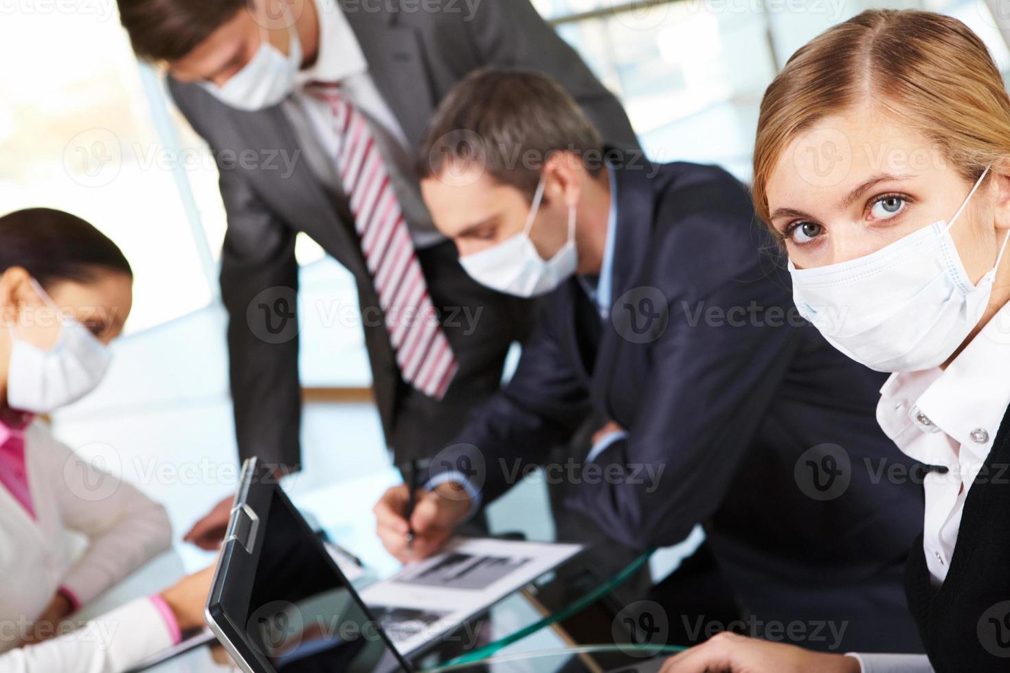 vrouw in masker foto