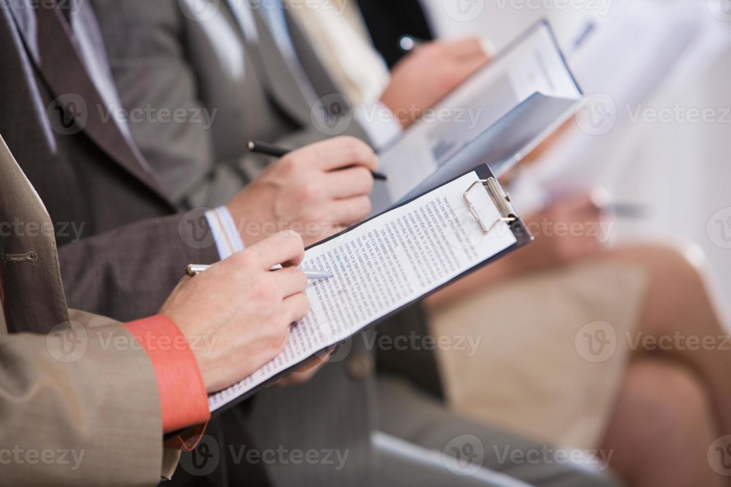 handen schrijven foto