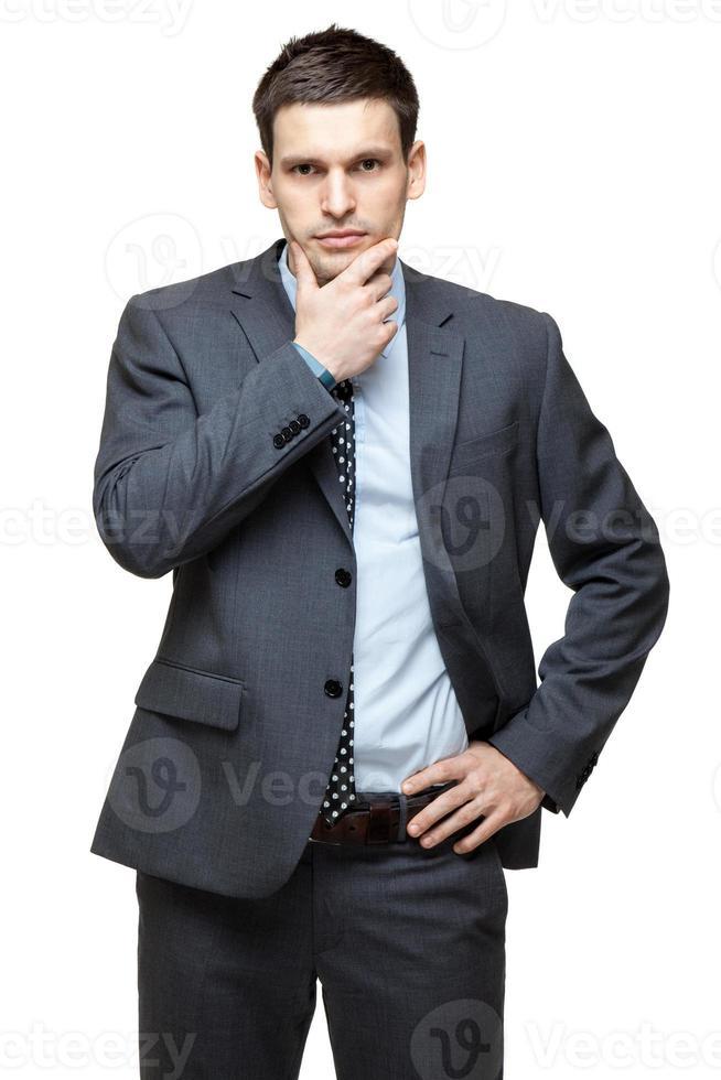 portret van jonge knappe zakenman. foto