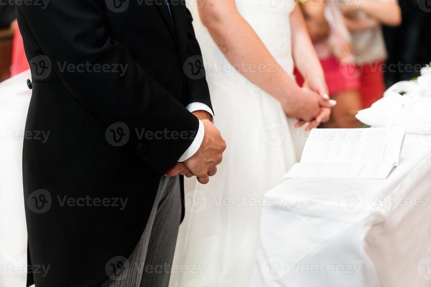 bruiloft kerk foto