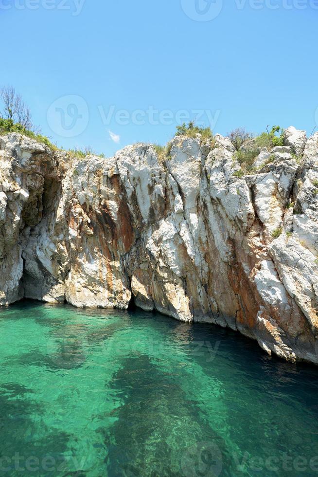 grot rabac, istrië, kroatië, europa foto