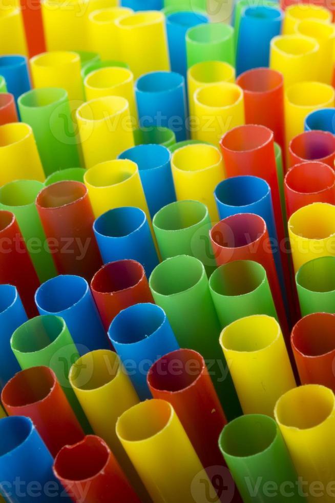 kleurrijke drinkrietjes (staand) foto