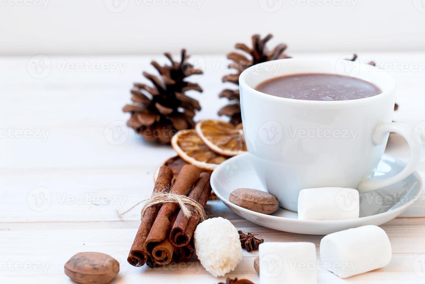 cacaodrank met marshmellows foto