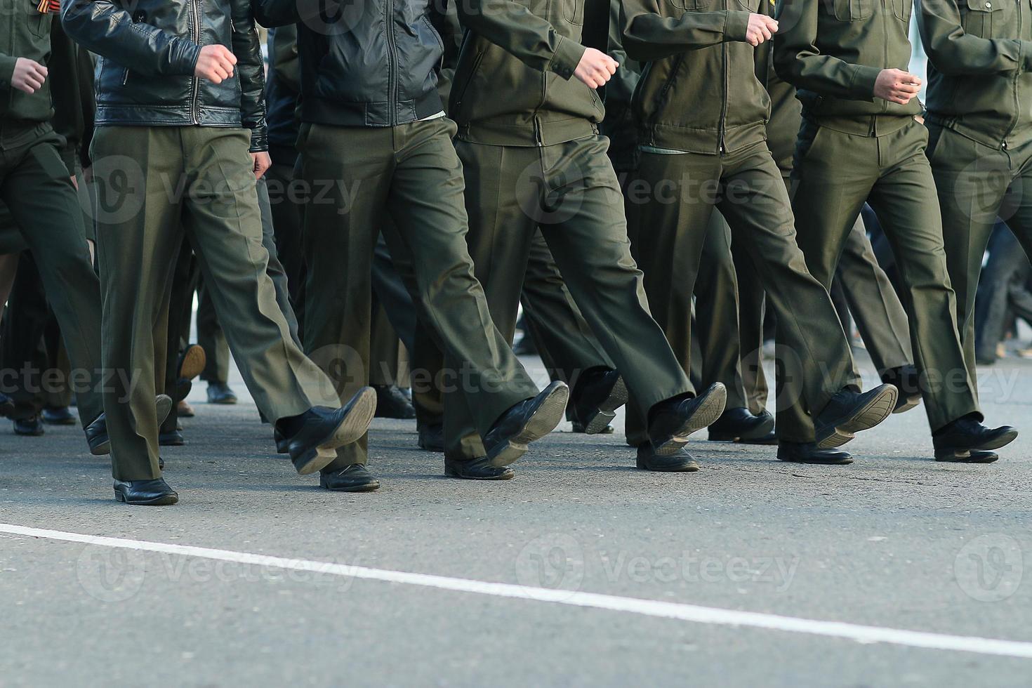 soldaten paraderen laarzen voeten foto