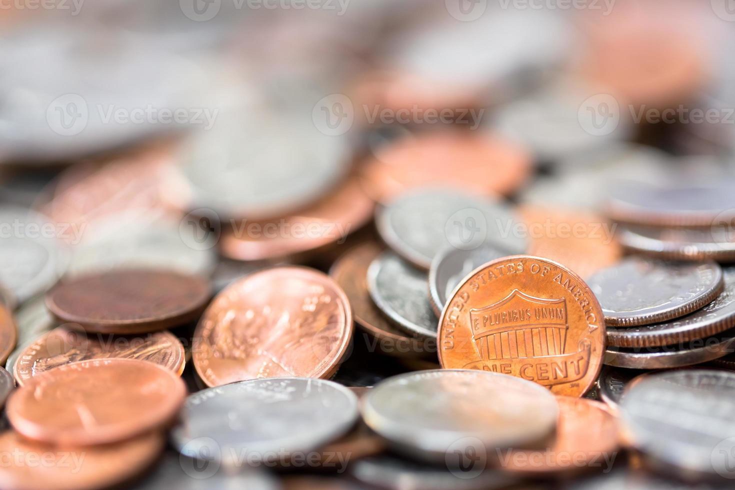 Amerikaanse munten achtergrond foto