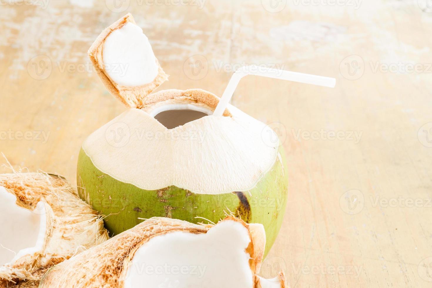 kokoswater drinken foto