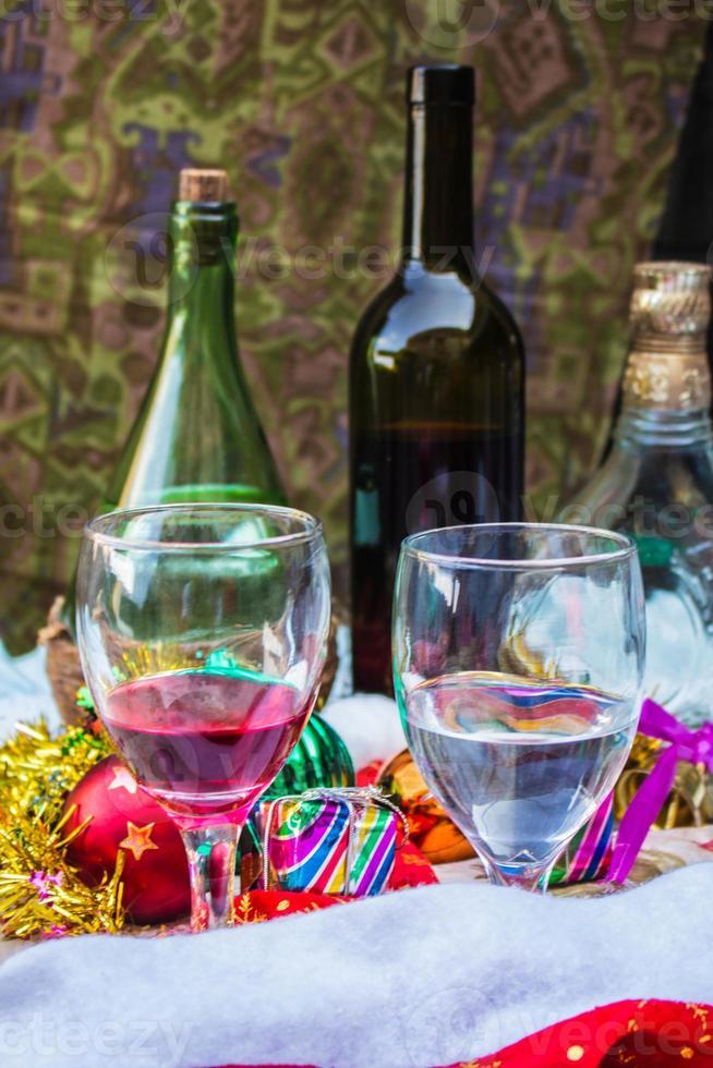 glas en drinken foto