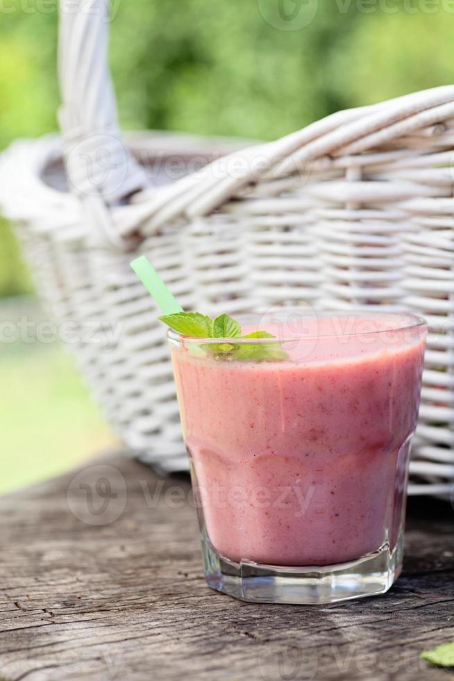 aardbei fruitdrank foto