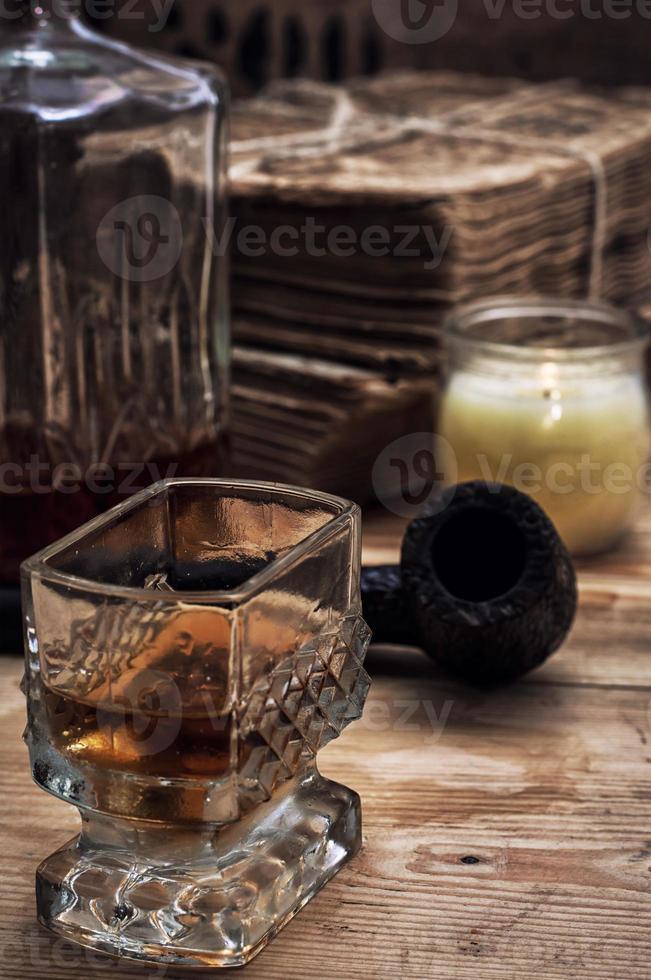 alcoholische drank van whisky foto