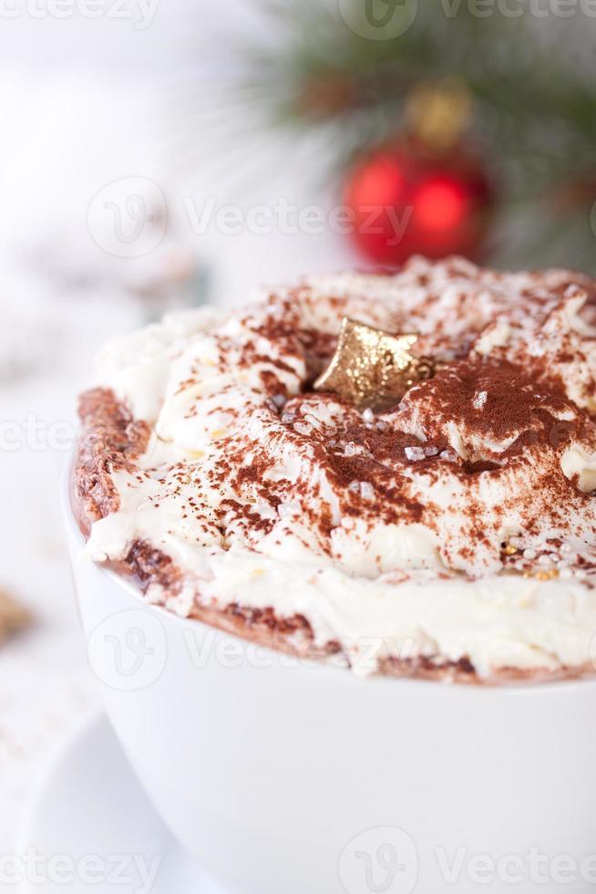 Kerst warme chocoladedrank foto