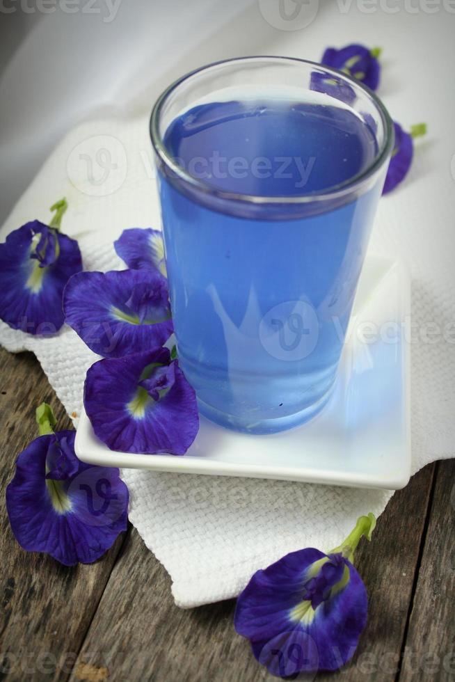 vlinder erwten drankje of bluechai foto