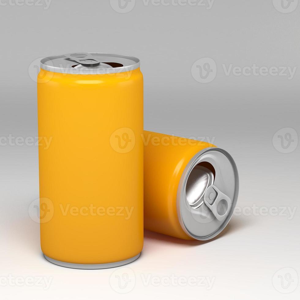 metalen aluminium drankdrankblikje foto