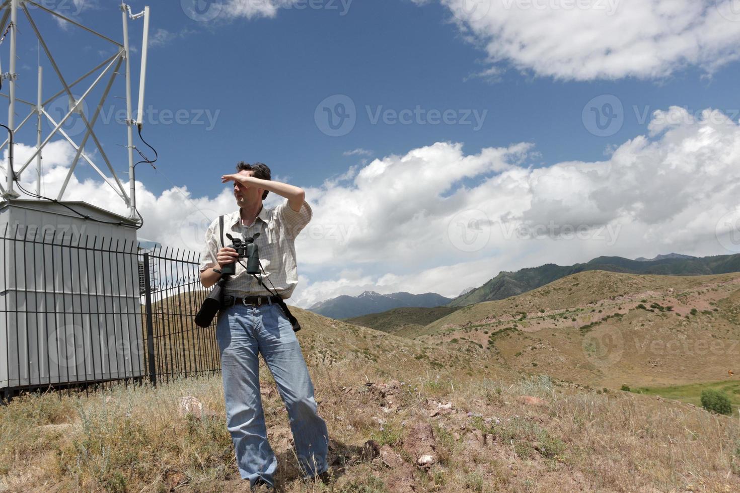 ingenieur van planning transmissienetwerk foto
