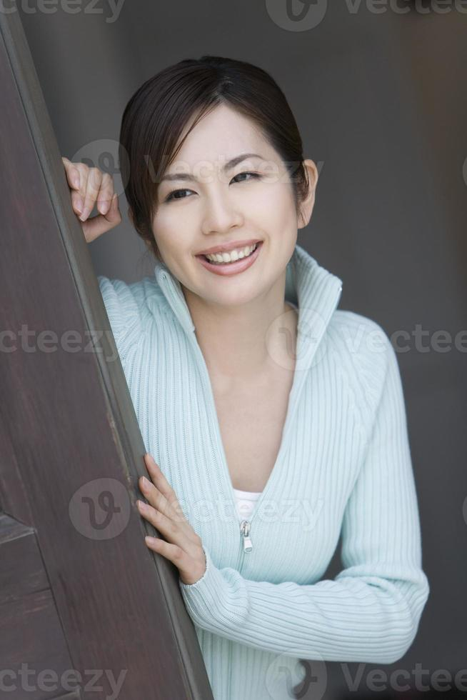 vrouw lachend foto