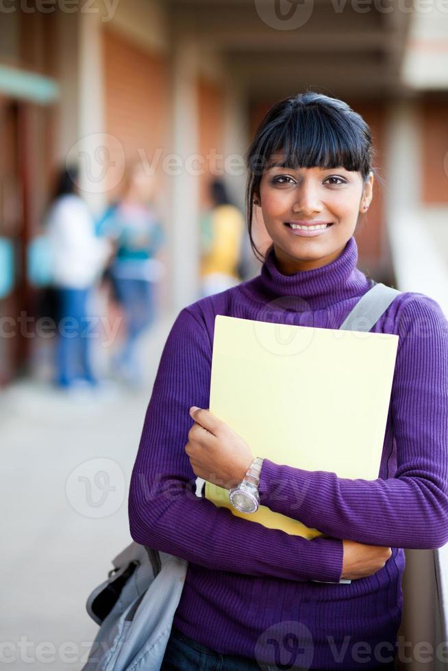 Indiase middelbare school meisje foto