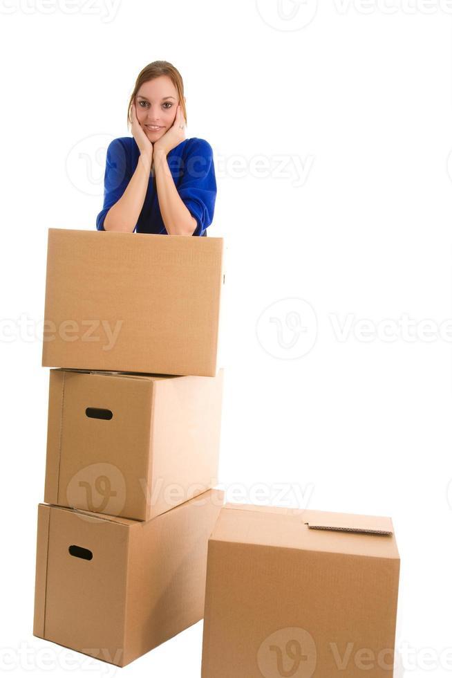 jonge vrouw bewegen foto