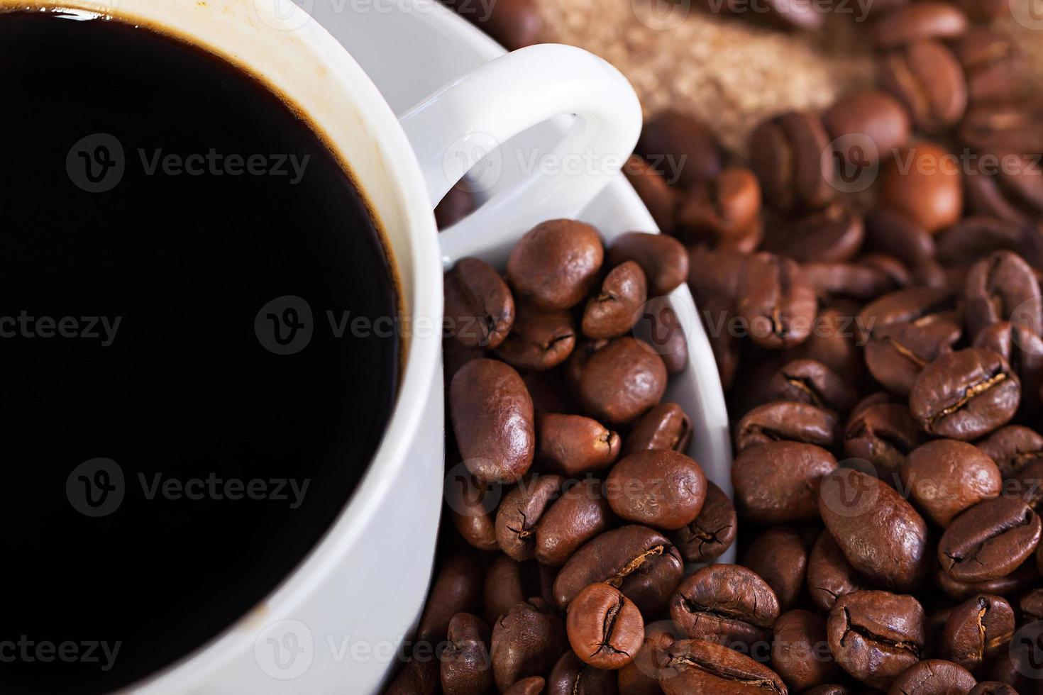 kopje warme koffie foto