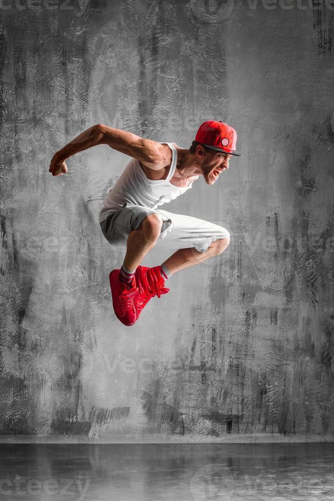 springende man foto
