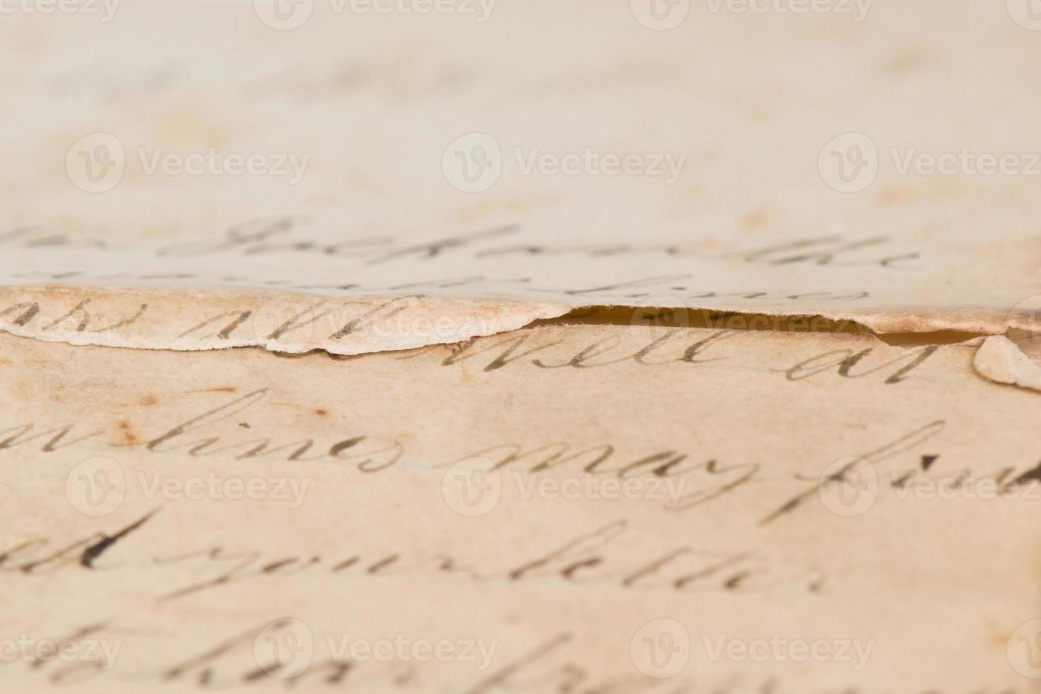 vintage brief met kopie ruimte foto