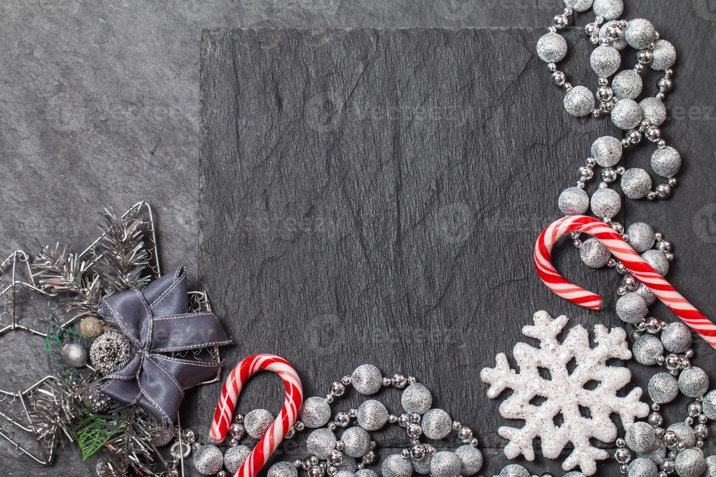 Kerst stilleven met kopie ruimte foto