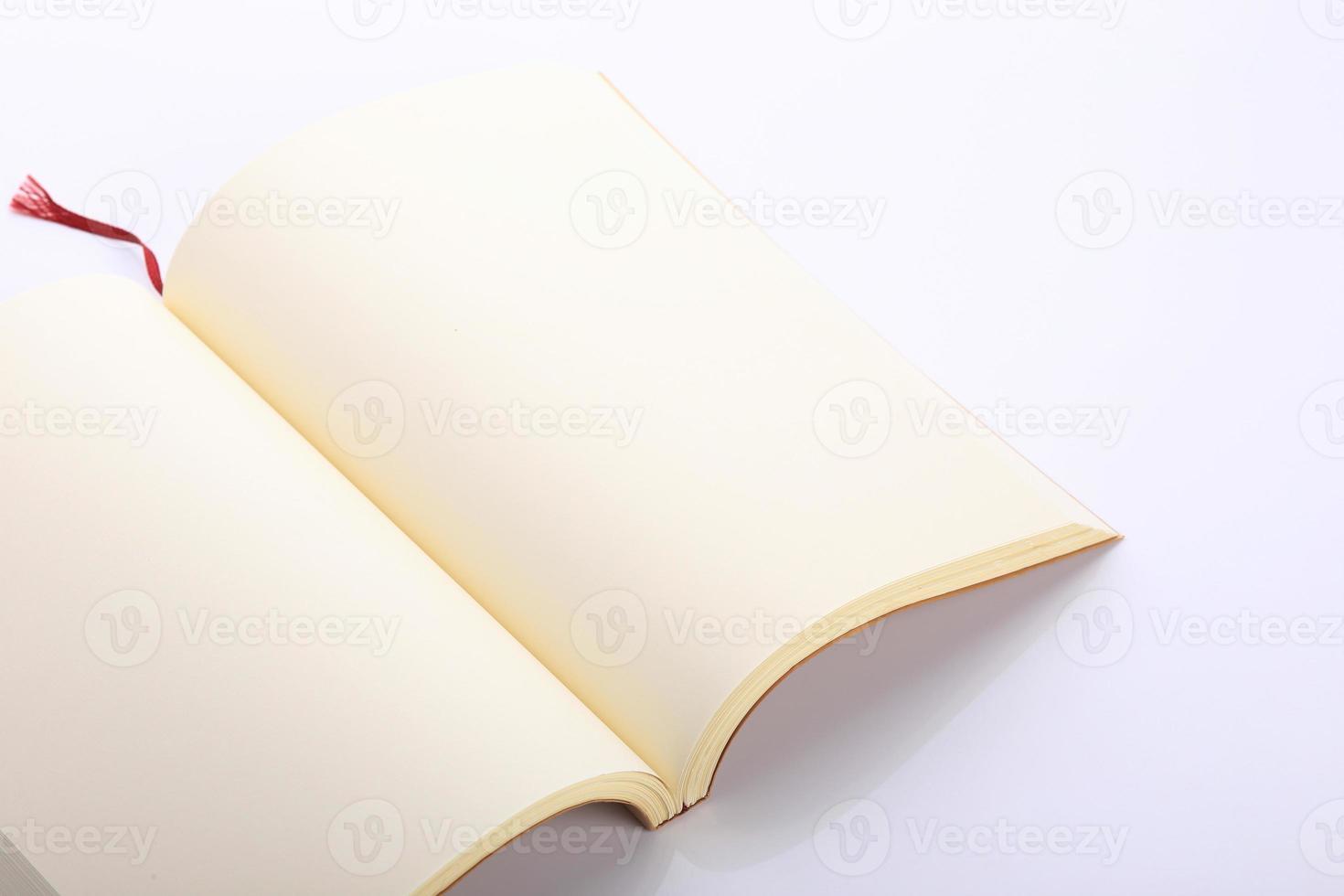 open blanco papier pagina geïsoleerd foto