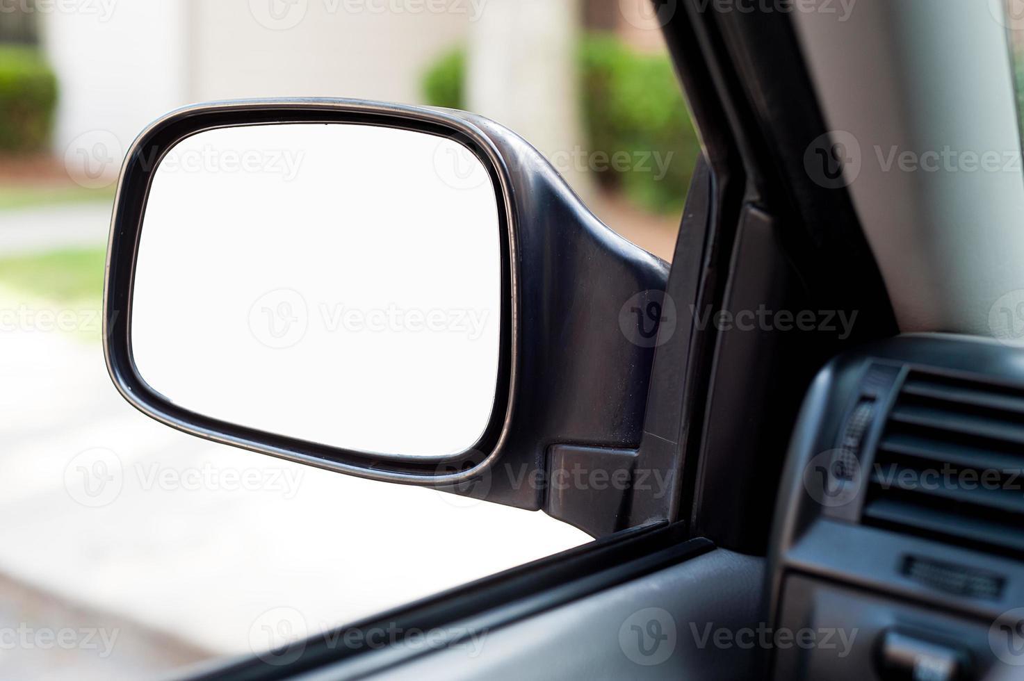 auto zijspiegel met kopie ruimte foto