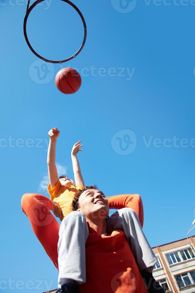basketbal spel foto