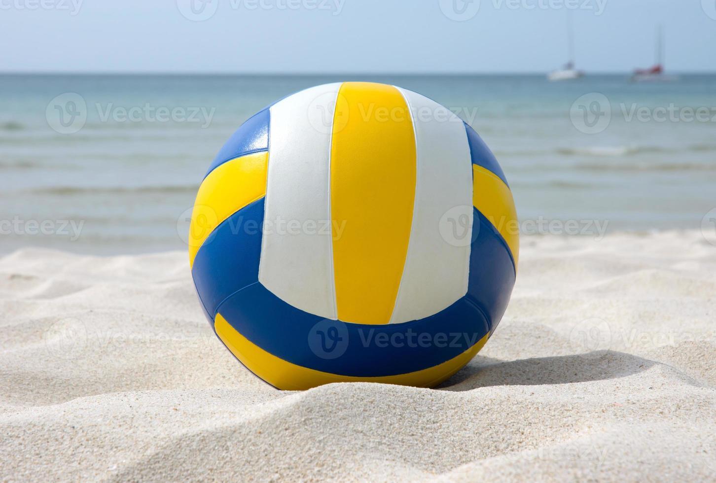 volleybal op het strand foto