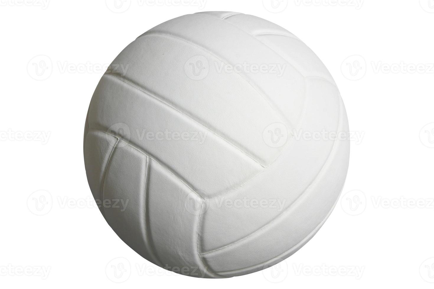 volleybal geïsoleerd op wit met uitknippad foto