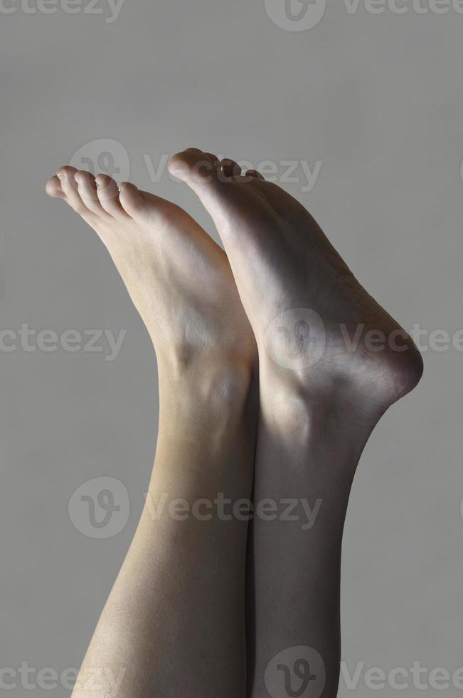 vrouwen voet foto