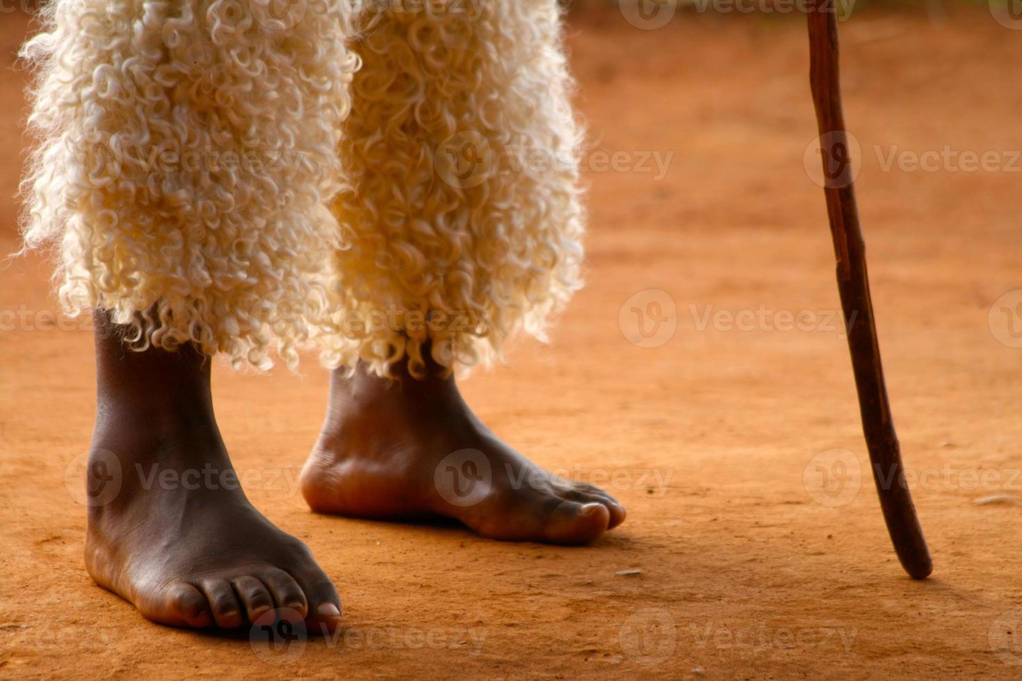 zulu voeten foto