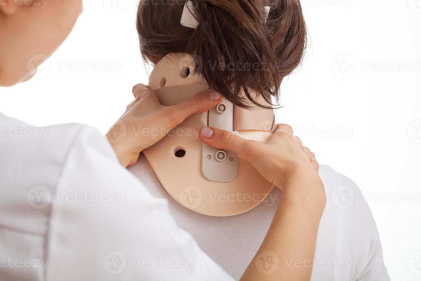 cervicale kraag foto
