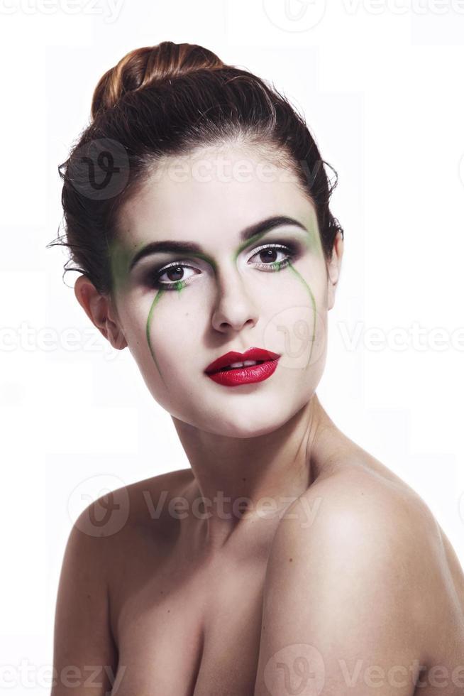 portret van een meisje met make-up foto
