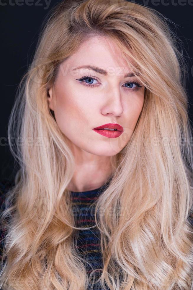 mooie blonde gilr foto