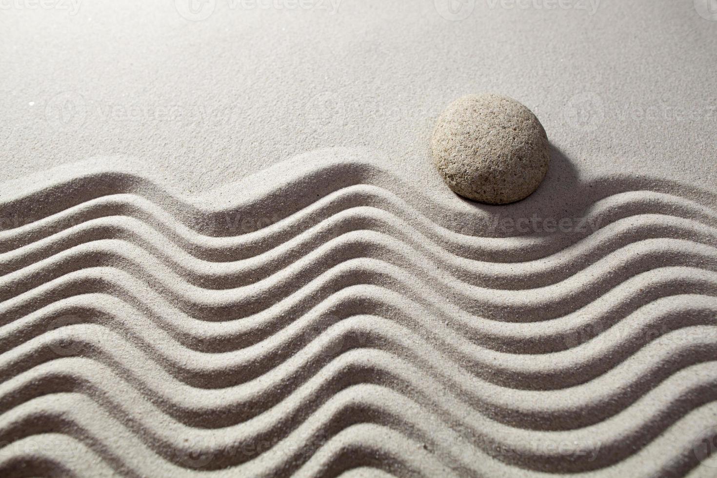 een boodschap in het zand voor ontspanning foto