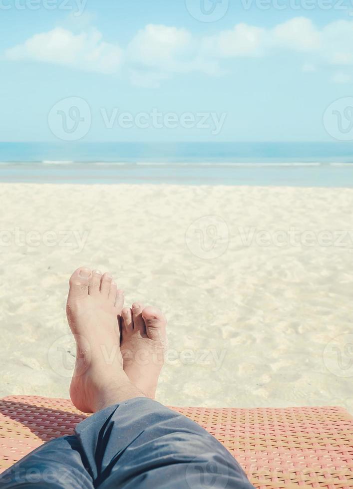 relaxen op het strand foto