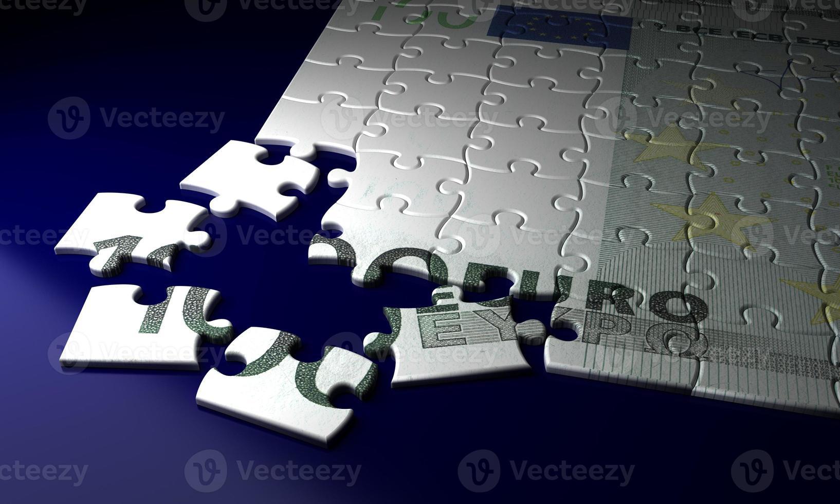 onvolledig euroclose-up foto