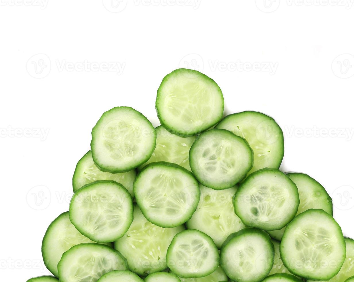 close up van komkommers. foto