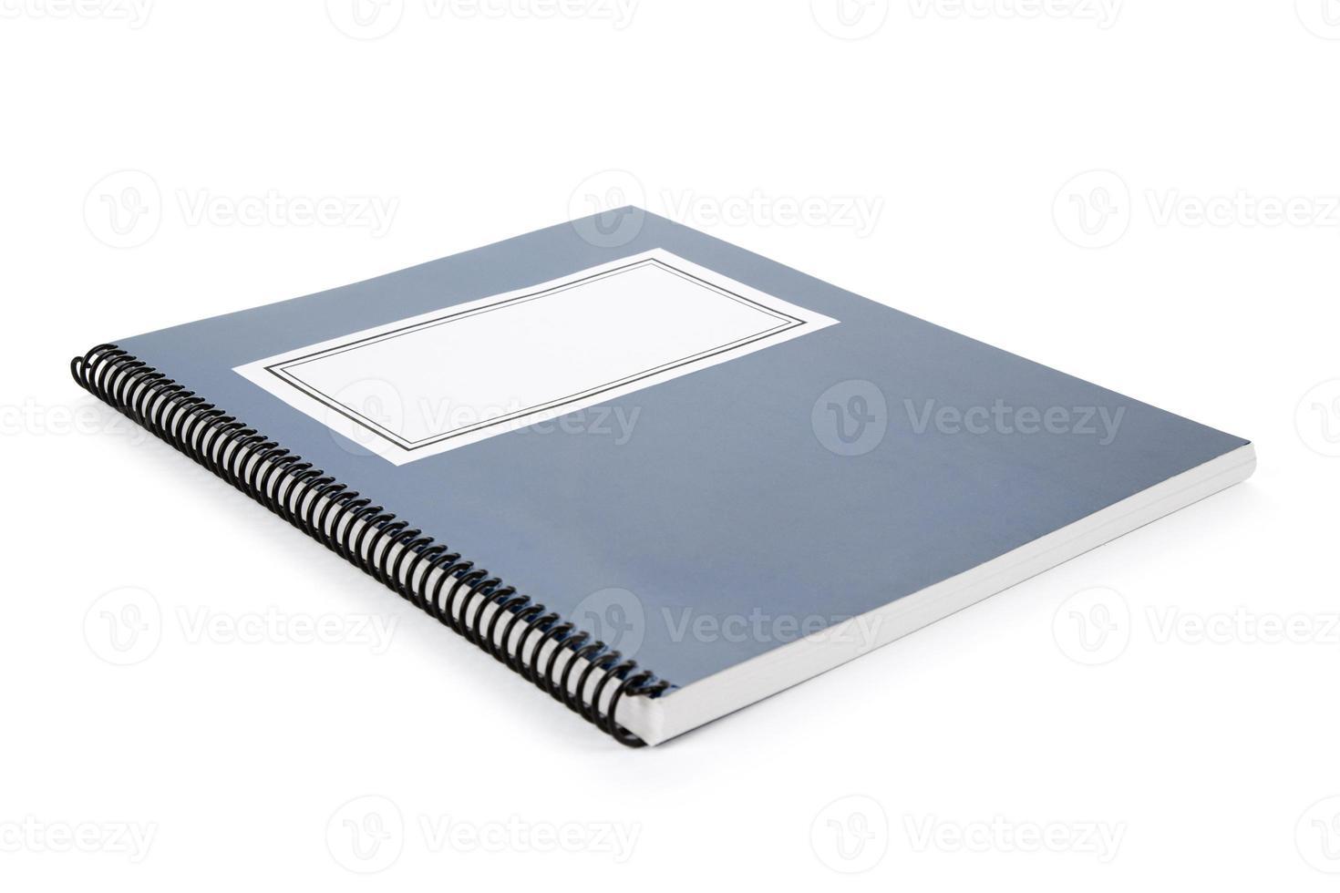 blauw schoolboek foto