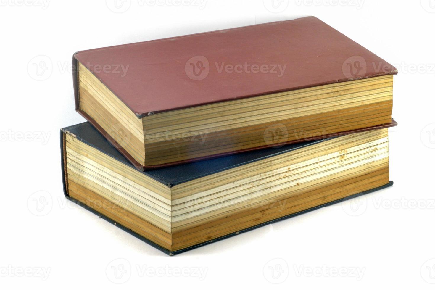 oude leerboeken of bijbel foto
