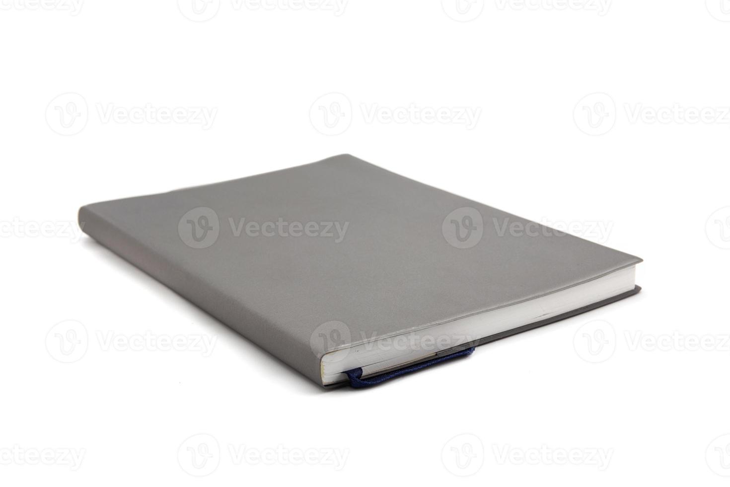 notitieboek op witte achtergrond. foto