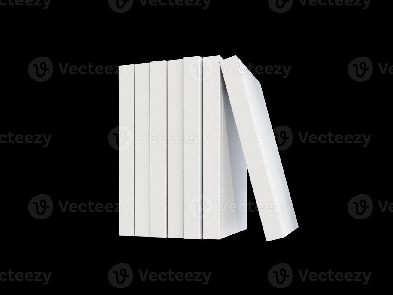 witte cover boek geïsoleerd op zwart foto