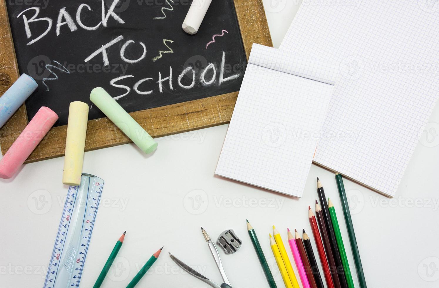 terug naar school leisteen foto