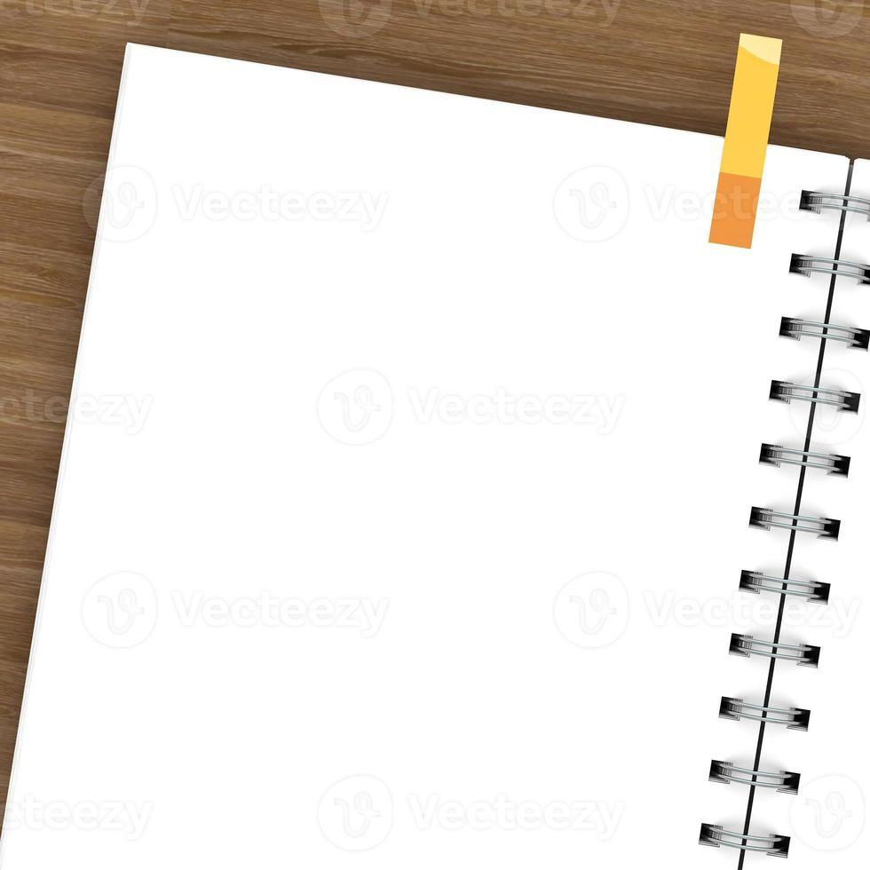 leeg notitieboekje dat op wit wordt geïsoleerd foto