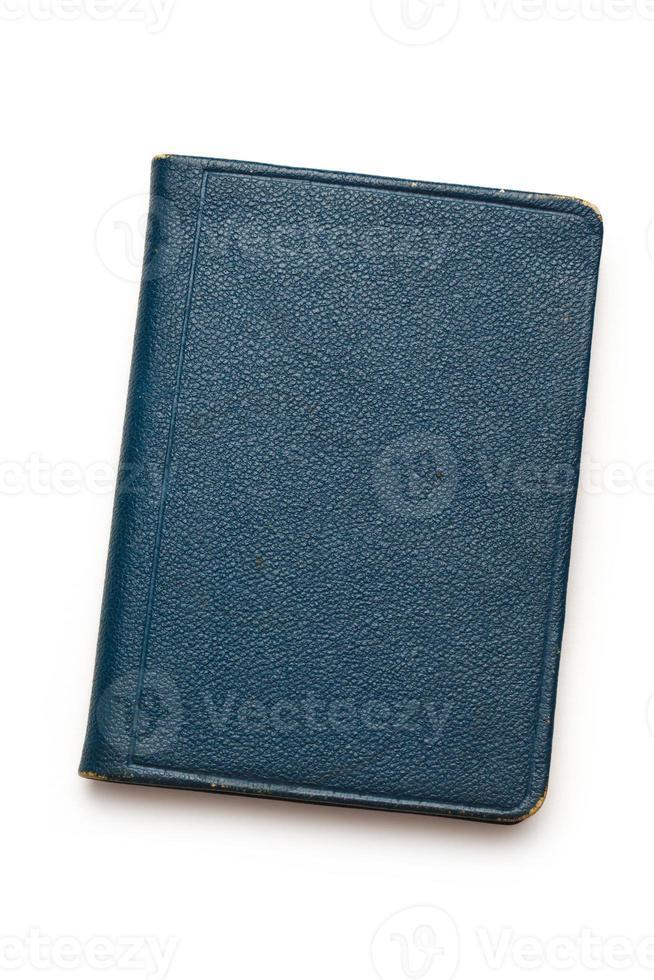 donkerblauw notitieboekje foto