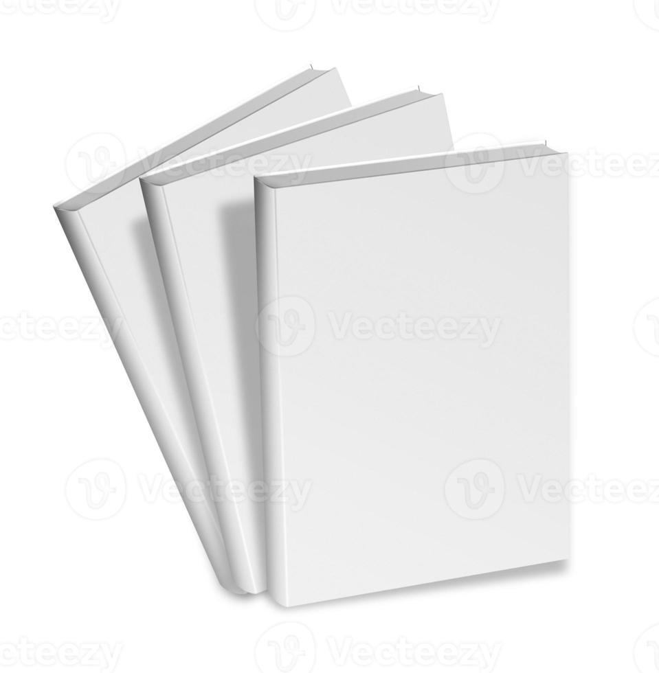 close up van een leeg wit boek foto
